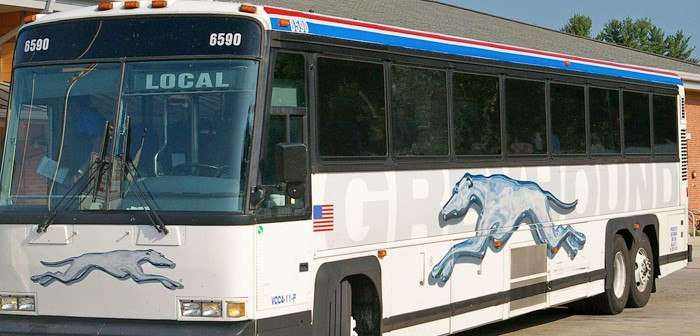 traveling on the greyhound bus
