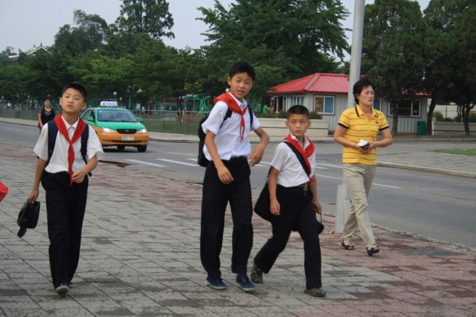 Kids in North Korea after school