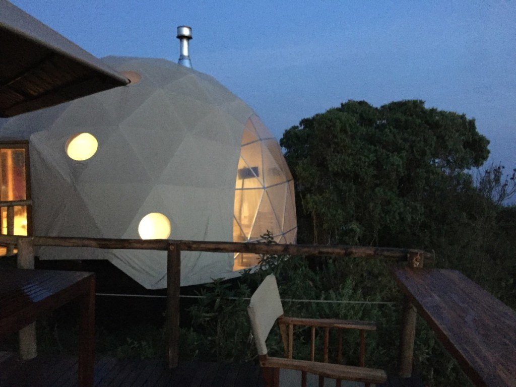domed tents make up the landscape at the highlands
