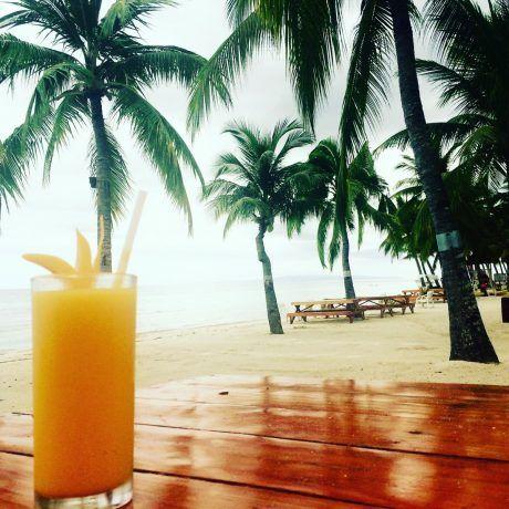 Mango juice at Bohol beach club