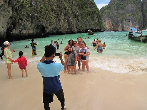 the worst beaches in thailand include the overcrowded maya bay