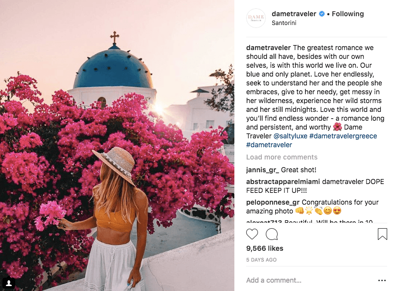 accounts that feature solo travelers