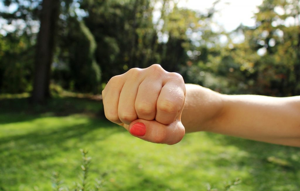 Learning how to form a fist is a handy self defense tip for solo female travelers