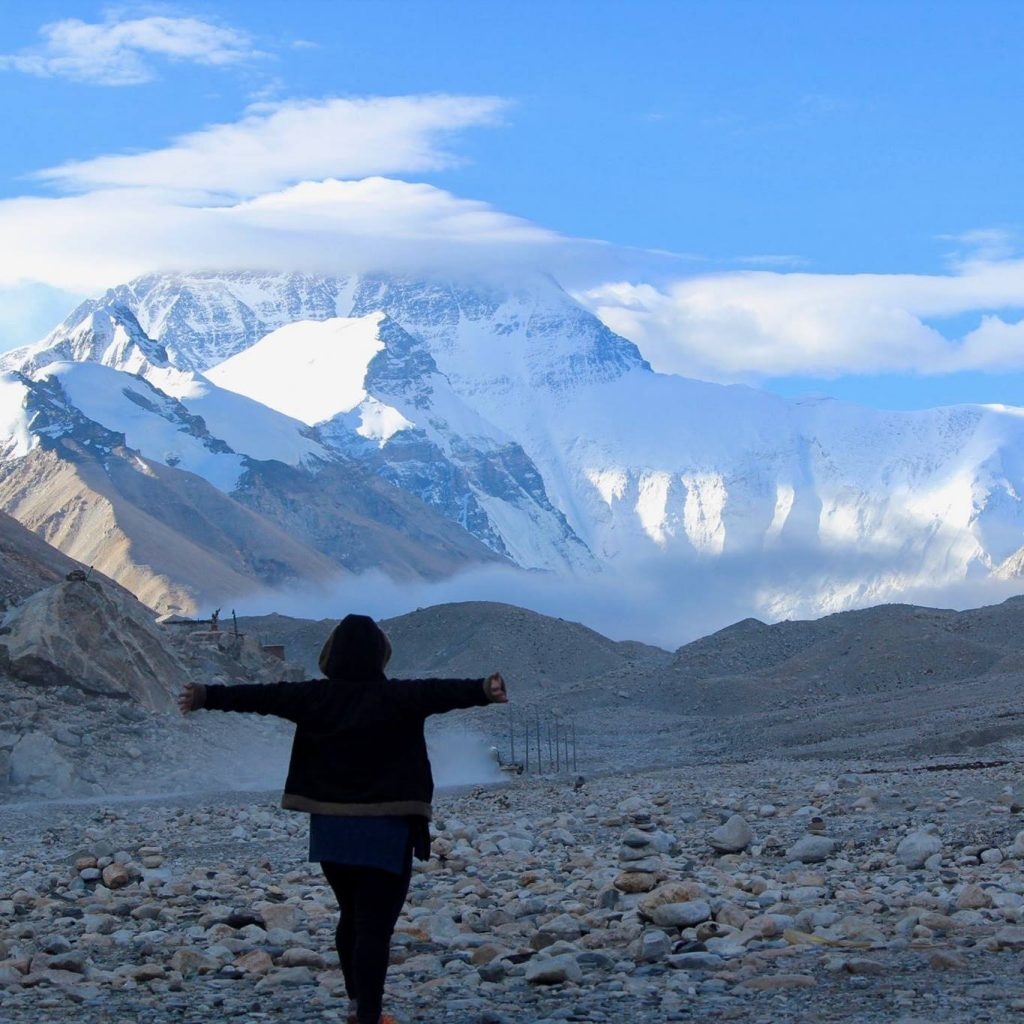 Exploring Mount Everest in Tibet.