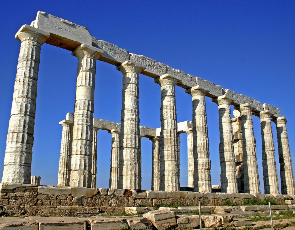 The temple of Poseidon is an amazing ancient ruin outside of Athens.