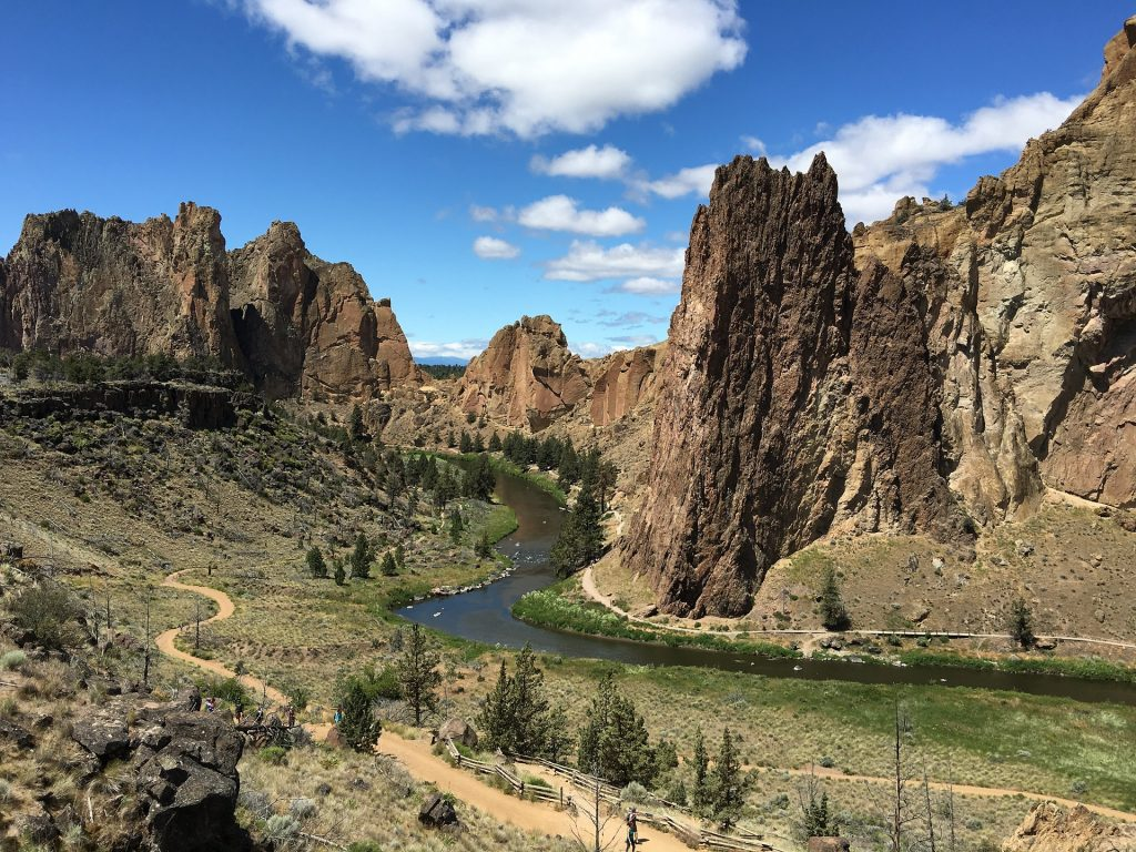 Smith Rock State Park is a great place to get engaged in Oregon.